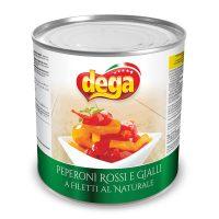 Peperoni rossi e gialli al naturale